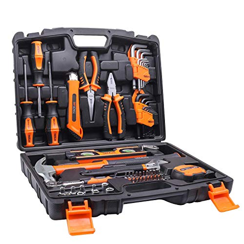 TACKLIFE 57-Piece Home Tool Kit – General Household Tool Set with Storage Case-HHK3A