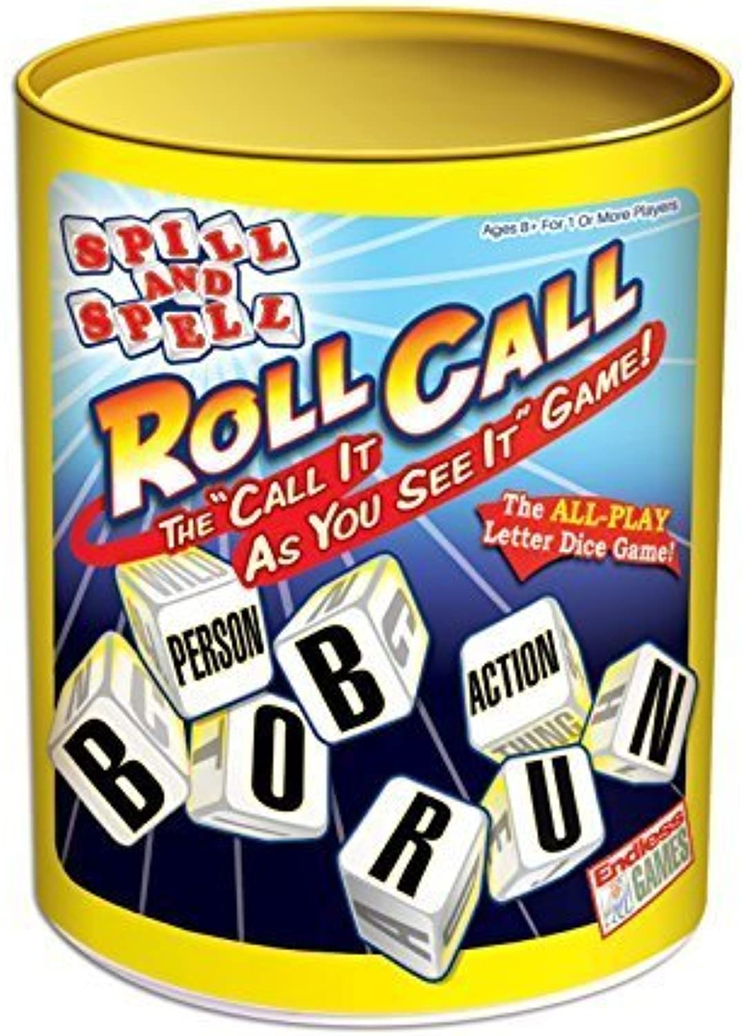 Spill and Spell Roll Call Board Game by Endless Games
