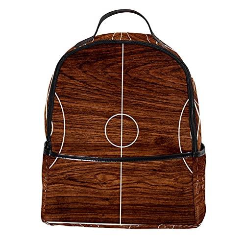 FURINKAZAN Mochila de viaje de moda vintage de cuero de la PU mini bolso de la cancha de baloncesto
