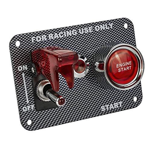 DC12V 20A kippschalter & 50A Zündungsschalter Universal schalter panel für rennwagen schnellstartschalter start-taste mit anzeige (rot)