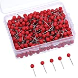 500 Pack Map Push Pins Map Tacks Small Size (Red, 1/8 Inch)