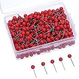 Rote Karte Push Pins 1/ 8 Zoll kleine Größe, 500 Packung