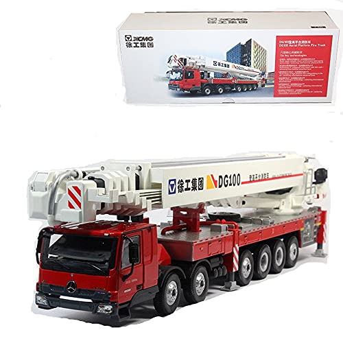 XCMG DG100 Fire Fighting Truck Diecast Model 1/50 Scale for Display Decoration Collection Gift