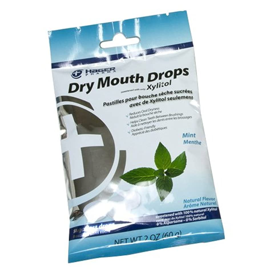 Hager Pharma Dry Mouth Drops, Mint, 2 Ounce