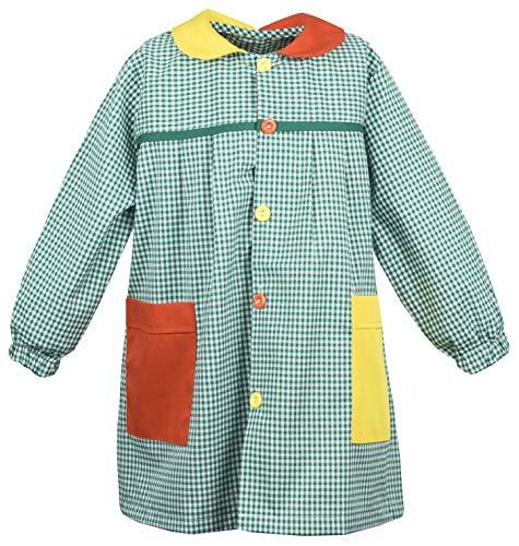 Abril Baby Colegio Cuadro Verde Bolsillos Colores (2 AÑOS)