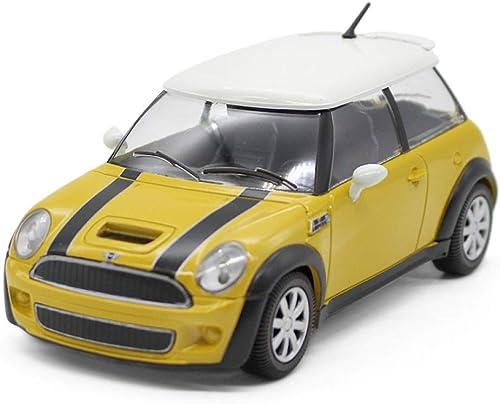 en stock QAQW QAQW QAQW Mini Cool S Car 1 24 Alloy Car Modelo Festival Colección Regalo Decoración amarillo  tienda en linea