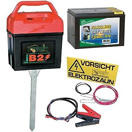 Weidezaun 230 V Komplettset mit Weidezaungerät 12,5mm Band Erdung Isolatoren