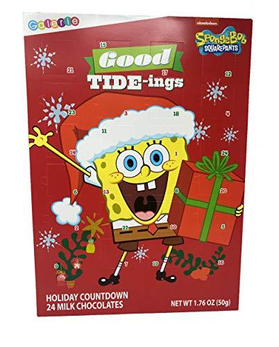 Spongebob Schwammkopf Adventskalender 2020 Weihnachten Countdown mit Schokoladenstücken, 50 g