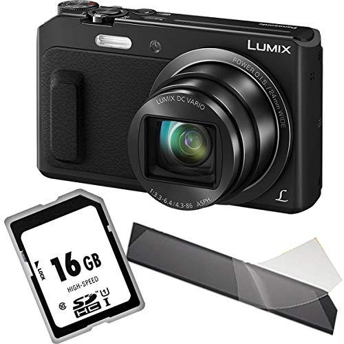 Panasonic LUMIX DMC-TZ58EG-K Travellerzoom Kamera (16 Megapixel, 20x Opt. Zoom, 3-Zoll LCD-Display, Full HD, WiFi, 24 mm Weitwinkel-Objektiv) schwarz, 1A Photo PORST Starterangebot