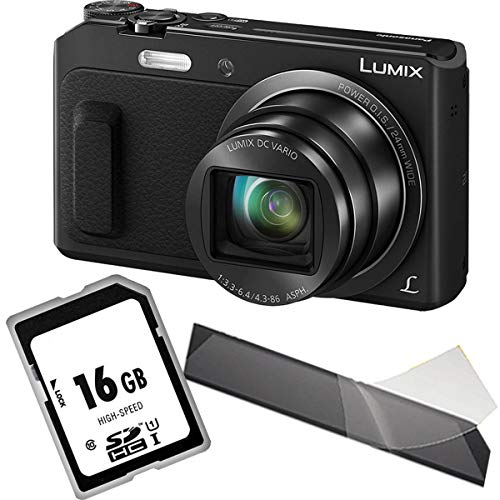 Panasonic LUMIX DMC-TZ58EG-K Travellerzoom Kamera (16 Megapixel, 20x Opt. Zoom, 3-Zoll LCD-Display, Full HD, WiFi, 24 mm Weitwinkel-Objektiv) schwarz, 1A Photo PORST Starterangebot