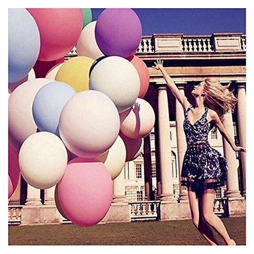 Amaoma 8 Stück Luftballons 36 Zoll Riese Ballons Groß Latex Ballon mit Ballpumpe, Extra Große Ballons für Geburtstag Valentinstag Verlobung Wedding Party Dekoration (8X 36-Zoll Große Ballons)