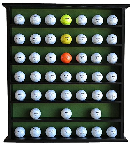 Golf Ball Display Case Cabinet Door Black No Sale price Solid Wood Beauty products