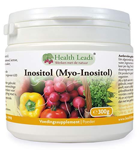 Inositol (Myo-Inositol) Poeder 300g, Ook wel Vitamine B8 genoemd, Hoge Absorptie, Veganistisch, geen magnesiumstearaat of lastige additieven, Niet ggo, plus gratis lepel, Gemaakt in Wales