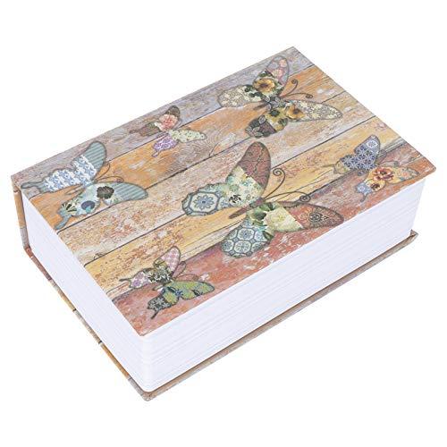 Hilitand Caja de almacenamiento segura de libro de simulación con bloqueo de código Dinero oculto Caja de bloqueo de seguridad de joyería en efectivo para pasaporte de joyería de oficina en casa