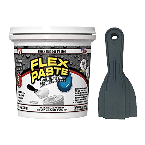 Flex Paste 3 lb Tub (White) Bundle with Allway Tools Putty 3-Piece Knife Set (2 Items)
