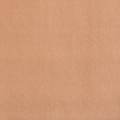 Klebefolie Metall-Optik Kupfer mit Struktur Dekofolie Möbelfolie Tapeten selbstklebende Folie, PVC, ohne Phthalate, gold, 67,5cm x 2,5m, 120µm (Stärke: 0,12 mm), Venilia 53285