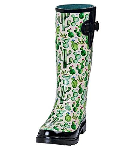 Blazin Roxx Outdoor Boots Women Cacti Round Toe Buckle 6 B White 58174