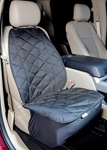 4Knines Front Seat Cover for Dogs (Black)- USA Based Company