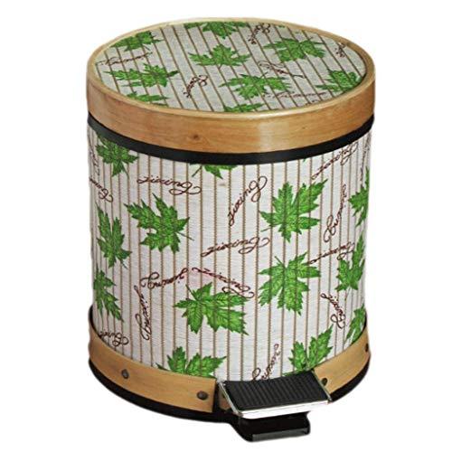 Cubo De Basura para El Hogar Cubierto De Madera Estilo Chino Hogar Sala De Estar Dormitorio Cocina Baño Bote De Basura Papelera