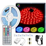 LED Strip Light MINGER 16.4ft(5m)RGB SMD 5050 LED Rope Lighting Color Changing Full