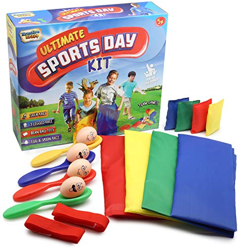 KreativeKraft Sports Day Kit | Giant 18 Pieces Mega Set For Traditional...