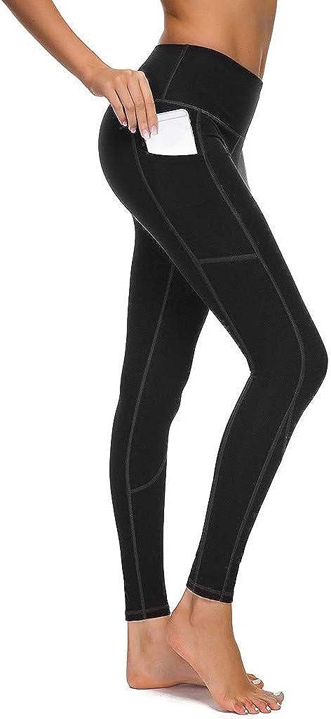 Sexy Butt Lift Yoga Leggings High Waist Tummy Control Yoga Pants for Women Running Workout Push Up Leggings Black