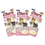 INABA Churu Tuna with Salmon Recipe Lickable Purée Natural Cat Treats 12 Tubes