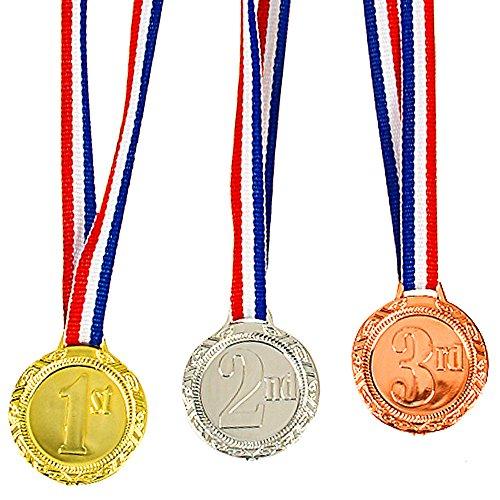 German Trendseller 3er Set Medaillen ┃1 Platz -┃ 2 Platz -┃ 3 Platz - ┃ Sieger Medaillen ┃ Super Medaillen ┃ Podium ┃ Preis für Fußball turniere Wettbewerbe Oder Kinder veranstaltungen