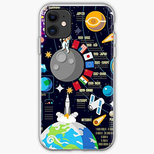 3D System Space Infographic Bang Universe Big Planet Unique Design Snap/Glass Phone Case Cover for iPhone, Samsung, Huawei - TPU Shockproof Interior Protective