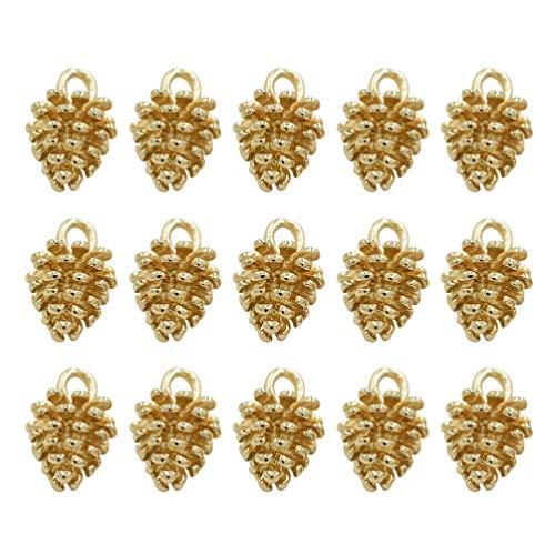 Healifty - 100 colgantes de cono de pino para hacer joyas, collares y pulseras