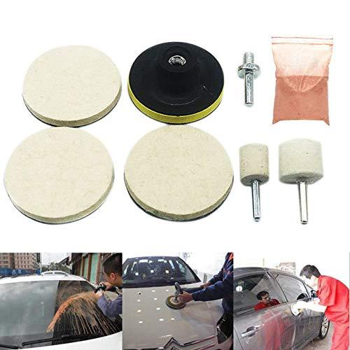 Delleu 8 stücke Autofenster Auto SUV Glas Polieren Kit Windschutzscheibe Reparatur Kratzer Entferner