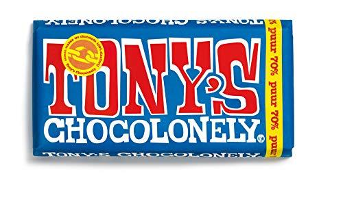 Cioccolato fondente Fairtrade   Tony's Chocolonely   Scuro 70%   Peso totale 180 grammi