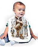 Just Add A Kid Baby Boy's Fife & Drum 1003 Baby Bib 0-6 Months White