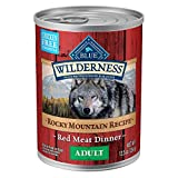 Blue Buffalo Wilderness Rocky Mountain Recipe High Protein, Natural Adult Wet Dog Food, Red Meat 12.5-oz cans (Pack of 12)
