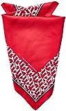 Tommy Hilfiger Silk Bandana Bufanda, Rojo (Barbados Cherry Xaf), Talla Única (talla del fabricante: OS) para Mujer