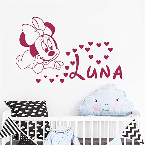 pegatina de pared Mickey Minnie Mouse Wall Art Decal Sticker Diy ...