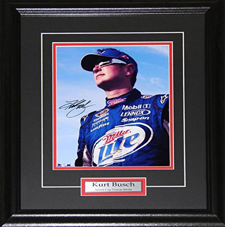 Kurt Busch NASCAR Auto Motorsport Racing Driver Signed 8x10 Racer Frame