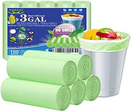 Okkeai White Small Trash Bags Strong Garbage Bags Small Kitchen Trash Bag For Home Office Kitchen Fit1 2 3 4 5 6 7 8 9 10 11 12 13gal Fit 3 4 Gal Green Am002 Green 45x50 6r Buy Online At Best Price In Uae Amazon Ae