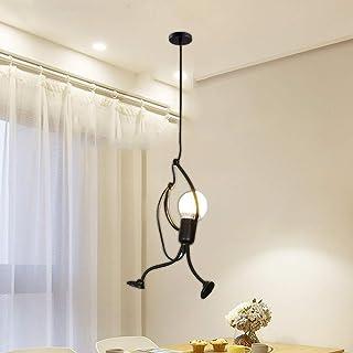 Moderne Lustre Suspendu charmant fer Dessin animé Créatif Rétro Pendante E27 personnes Lampe suspension Lampe de plafaond ...