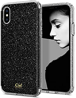 Ciel by CYRILL [Glitter Collection] Designed for Apple iPhone Xs Case (2018) / Designed for Apple iPhone X Case (2017) - Bling Black Glitter