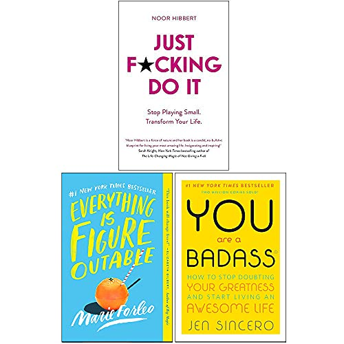 Just F*cking Do It, Everything is Figureoutable, You Are a Badass 3 Books Collection Set