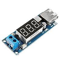 For 10ピースDC-DC 2 IN 1 6.5V-40V~5V降圧ステップダウンキャストパワーモジュール電圧計算機自動キャリブレーション不変出力5V 2A USB充電ポート逆接続過電流過熱保護