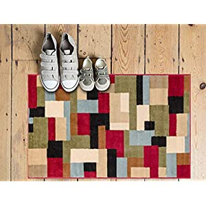 "Well Woven Imperial Mosaic Multicolor Geometric Modern 2×4 (2'3″ x 3'11"") Area Rug Abstract Color Block Carpet"