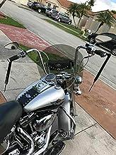 6Inch Motorcycle Windscreen Wind Shield Windshields Wind Screen for Road Electra Street Glide Road King Touring 1996-2013 Artudatech Motorbike Windshield