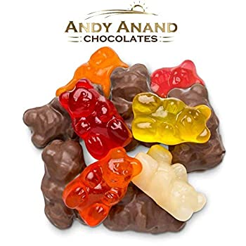 Andy Anand s Bulk Sugar Free Milk Chocolate Gummy Bear For Wholesale Delicious Succulent & Divine Birthday Valentine Christmas Holiday Anniversary Mothers Fathers Day Halloween  1 Lbs