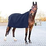 horze Vail Quadratische Abschwitzdecke für Pferde aus Wolle nach dem Training oder Waschen...