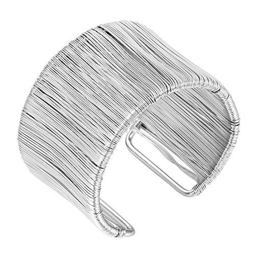 Handgefertigter Armreif für Damen in gold oder silber Vintage Armspange Spange Armband (silber)