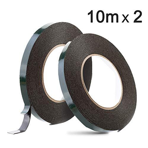 YIXISI 2 Rollos 12mm X 10m Cintas adhesivas doble