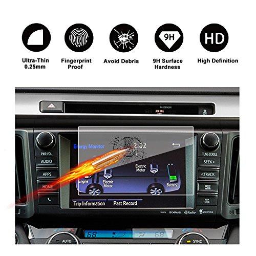RUIYA gehard glas Ultra-heldere displaybescherming,9H gehard glas (gehard glas) voor het navigatiesysteem van 2016-2018 Toyota RAV4 Touch 2 [ anti-kras] [dikte van 0,25 mm] - 7inch