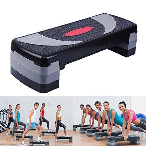 Paneltech 80cm/110cm 3 en 1 Steps Fitness Step de aeróbic step stepper de aeróbic, altura regulable (80cm)